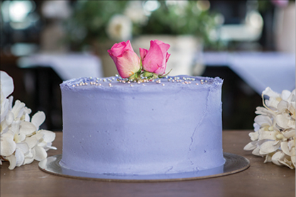 Purple Velvet Cake  - Naked or plain