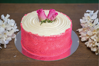 Pink Velvet Cake Naked or plain